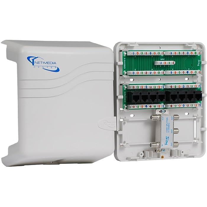ICC Mini Combo Voice/Data/Video Structured Wiring Enclosure