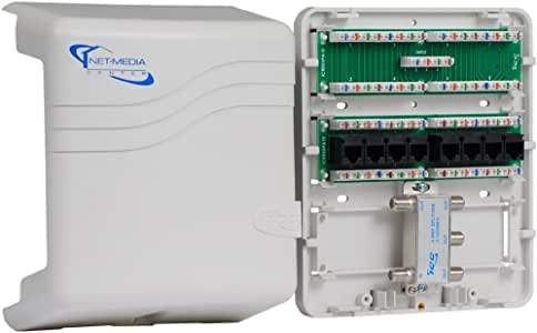 icc mini combo voice/data/video structured wiring enclosure - electrical  boxes - amazon.com  amazon.com