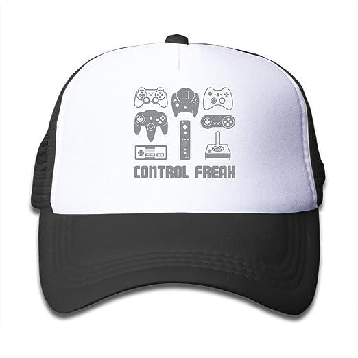 77203171ae0d1 TuJa Video Game Control Freak Gaming Children s Sun Protection Unisex  Adjustable Hats Cap Mesh Black