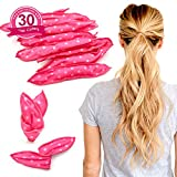 Sleeping Foam Hair Curlers - Fomei Soft Sponge Hair Rollers for Women & Girls, DIY Sponge Hair Styling Rollers Tools for Long, Short, Thick & Thin Hair, No Heat Pillow Hair Rollers Curlers (30pc pink)