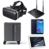 Google Expeditions Student VR Kit (10 Pack) - Android VR Device, Dual Core Router, Teacher Tablet, Carry Case (10 Kit)