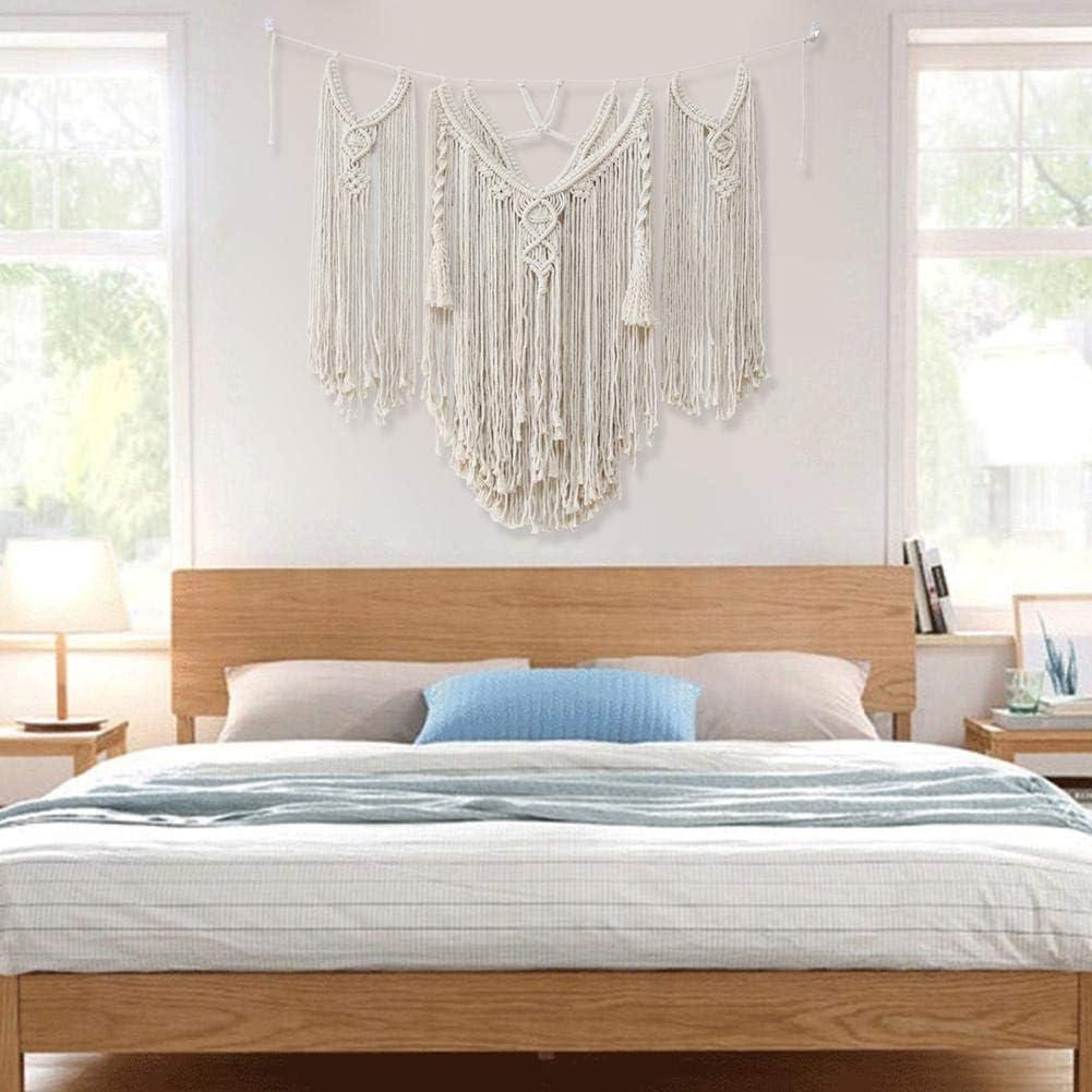Arazzo Tessuto Artistico Appeso A Parete Tessuto macram/è Decorazione Murale Boho per Appartamento 39,4 `` X 31,5 Decorazione Boho Artigianato Dormitorio Casa