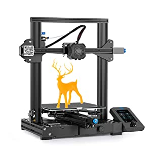 Creality Ender 3 V2 Upgrade 3D Printer with Meanwell Power Supply, Silent Motherboard, Carborundum Glass Platform and Resume Printing 220 x 220 x 250mm