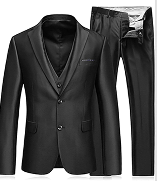 9ea13e9687ab Hombre de MOGU 3 piezas oficial de traje de negocios y chaqueta y ...