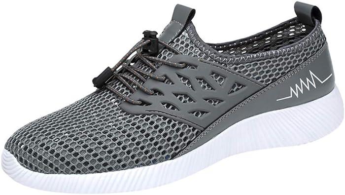 OAPKY Zapatillas Deporte Hombres de Gran Tamaño de Moda Casual Marca Luz Hombres Mocasines Zapatos Casuales Deportes Zapatos Running Hombre: Amazon.es: Zapatos y complementos