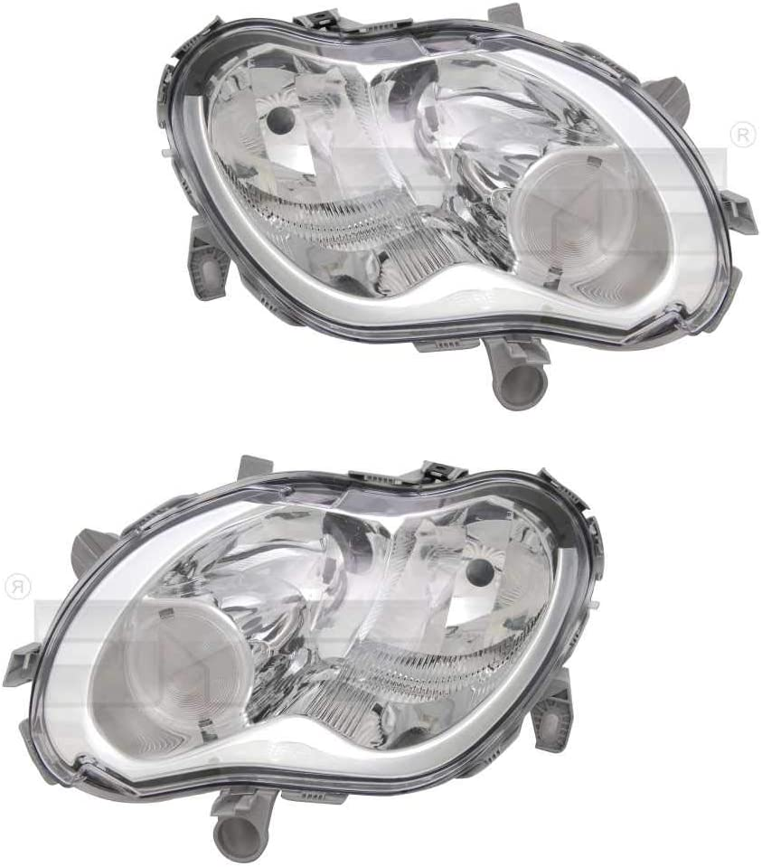 Scheinwerfer Hauptscheinwerfer Frontscheinwerfer Set links /& rechts H1//H7 f/ür Modell Fortwo Coupe 450 City-Coupe Cabrio