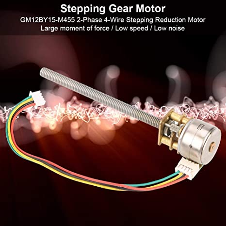 30RPM Schrittmotor Mini 2-Phasen 4-Draht-Ganzmetallgetriebe-Schrittminderungsmotor DC5V 5RPM GM12BY15-M455 DC 5V 5//10//15