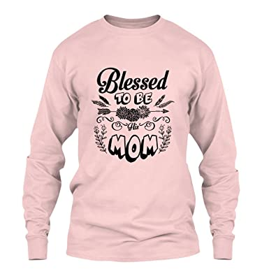 66773707 Blessed to Be Mom Tee Shirt Design, Long Sleeve Shirt, Long Sleeve (S