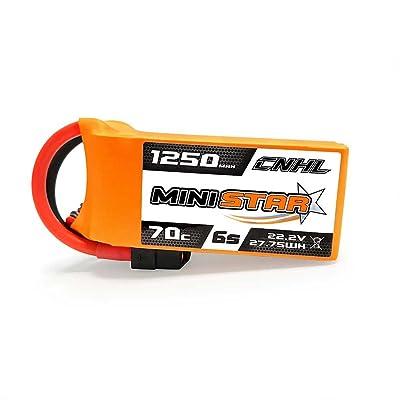 CNHL MiniStar 1250MAH 22.2V 6S 70C Lipo Battery: Toys & Games