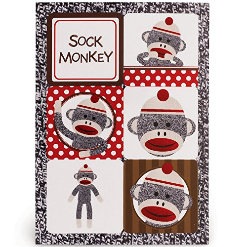 Sock Monkey Party Supplies - Sticker Sheets (4)