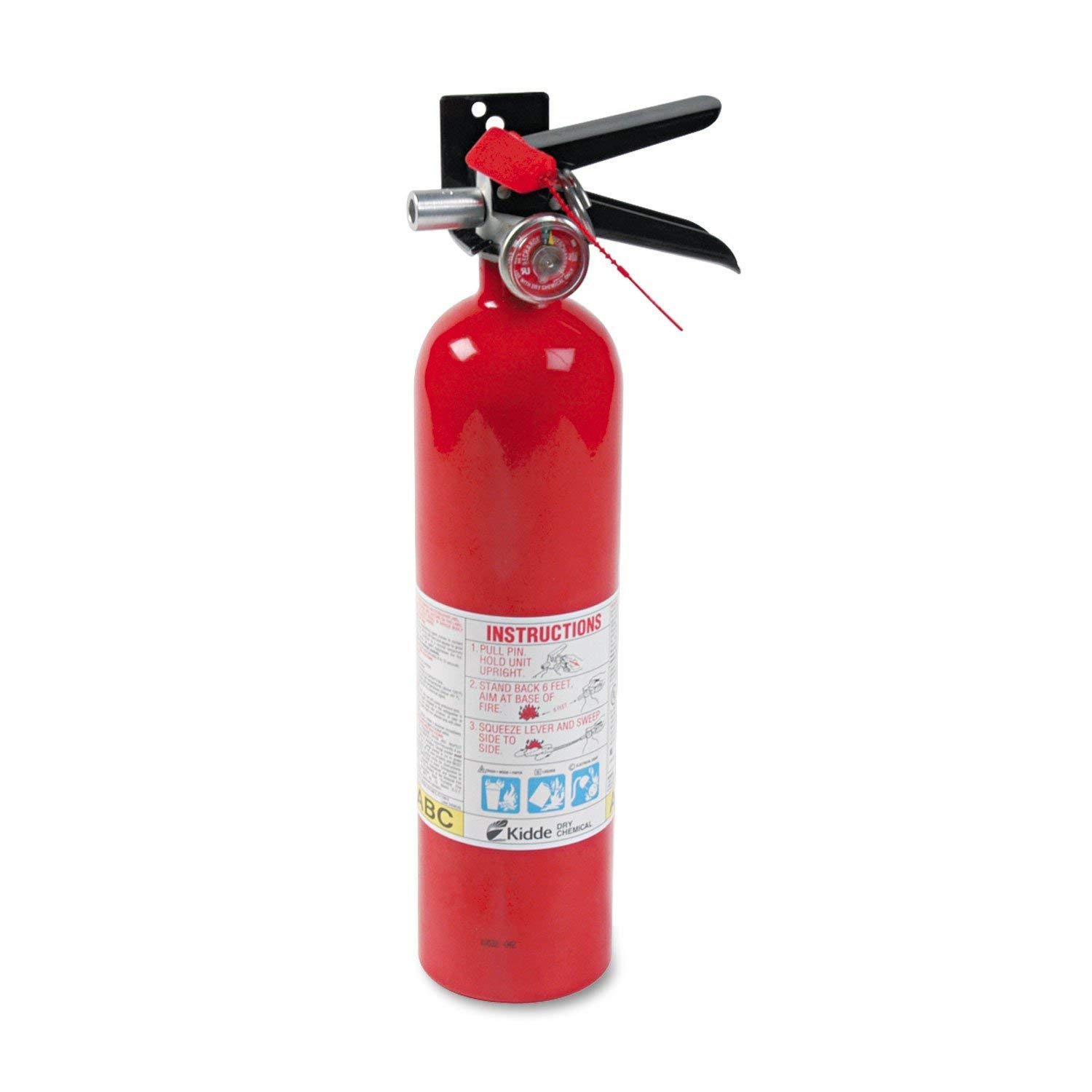 Kidde 466227 ABC Pro Multi-Purpose Dry Chemical, Commerical and Industrial Fire Extinguisher, UL Rated 1-A, 10-B C, Pack of 8