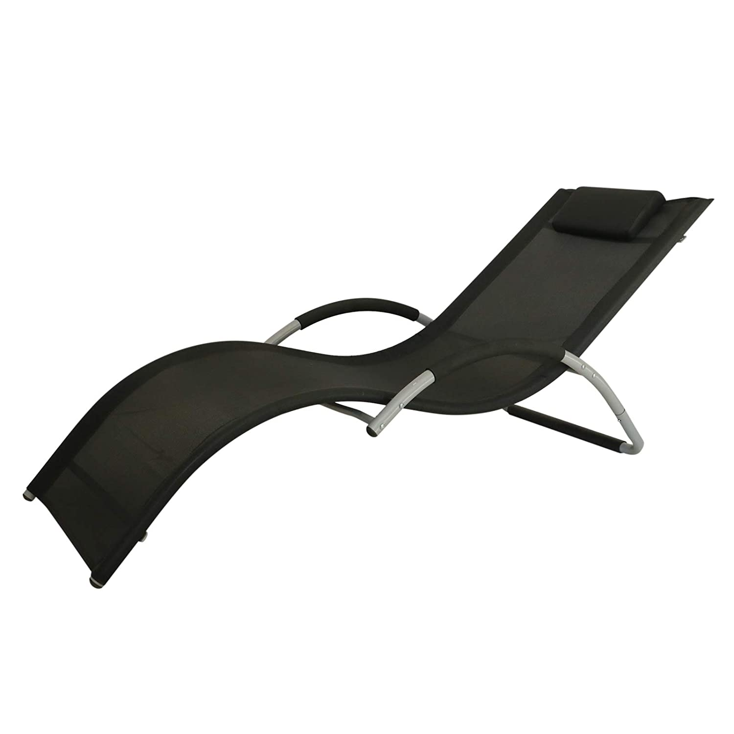 Amazon.com: Outsunny Texteline - Tumbona reclinable para ...