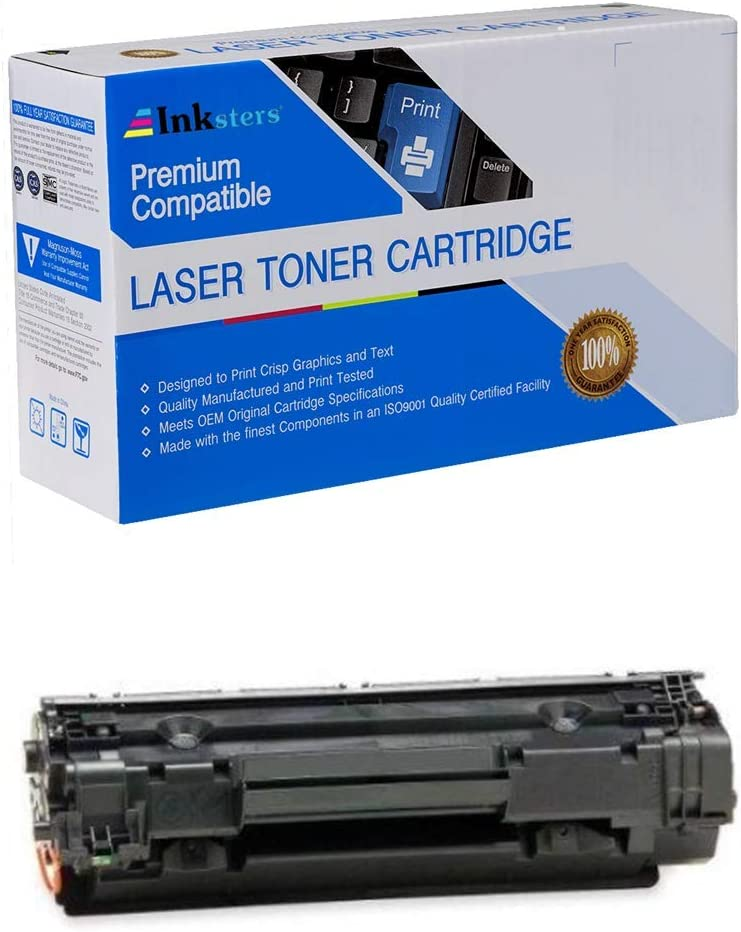 Inksters Compatible Black Toner Cartridge Replacement for HP 36A (CB436A) - Compatible with Laserjet P1505 P1505N M1522N M1522N MFP M1522NF M1522NF MFP M1120 M1120N