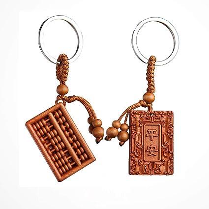 GOOTRADES 2 Piezas de Madera Tallada en Forma de Abacus ...