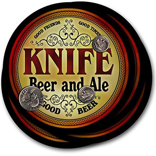 ナイフビール& Ale – 4パックドリンクコースター   B00PQQUJF4