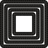Marianne Design'Craftable Passe Partouts' Squares Die, Metal, Grey