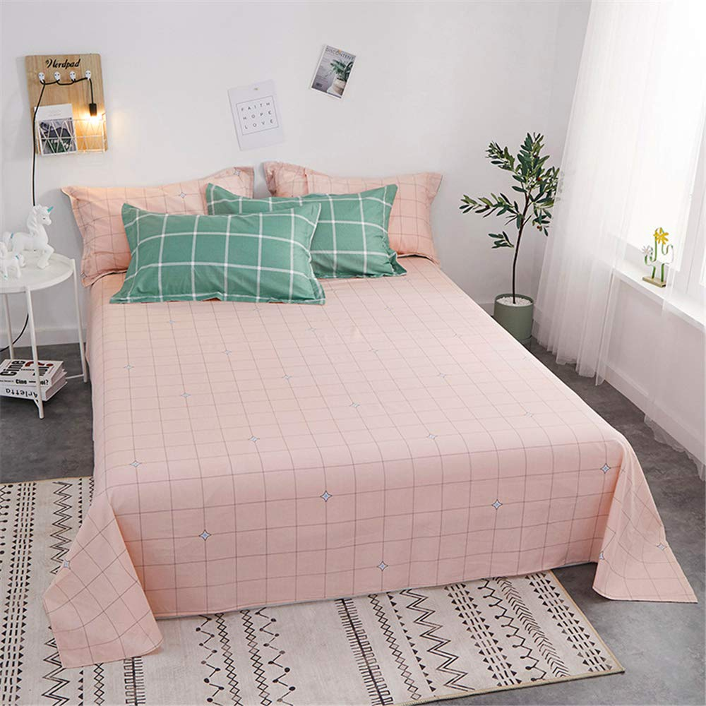 Cotton Sheets Simple and Comfortable Right Angle Sheets Skin-Friendly Delicate Cotton Fabric Exquisite Seaming Fashion Cartoon Natural Comfort Little Love Letter 270250cm by iangbaoyo