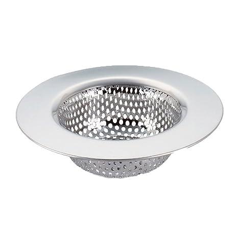 Canasta del filtro - SODIAL(R) Fregadero de acero inoxidable cesta de filtro L