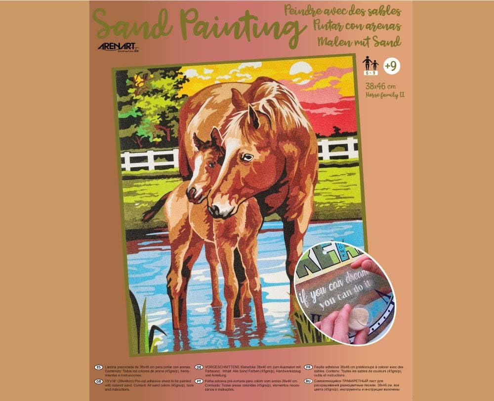 Arenart - Set Pintar con Arenas - Caballos en el Rio 38x46 cm