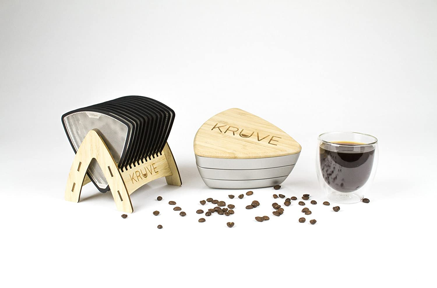 Calibrate Refine Coffee Grinds or Home Brewers 12 Sieves Black for Cafes Baristas KRUVE Sifter Twelve Helps accurately Measure