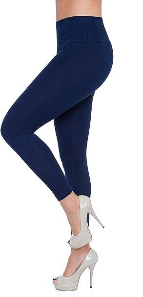 FUTURO FASHION LWP - Leggings de Tiro Alto para Mujer Algodón ...