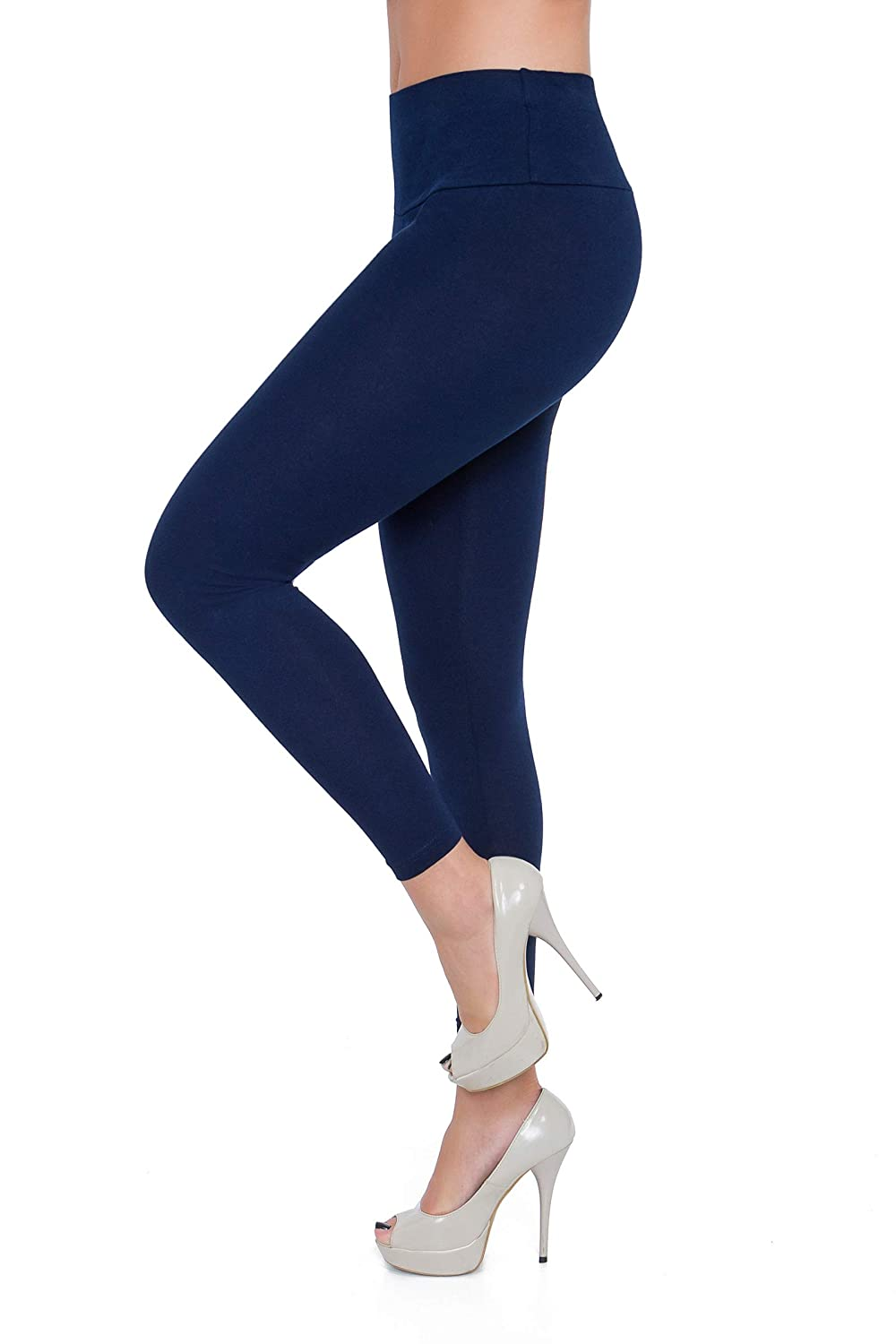 FUTURO FASHION Womens High Waisted Leggings Classic and Winter Cotton Plus Size LWP