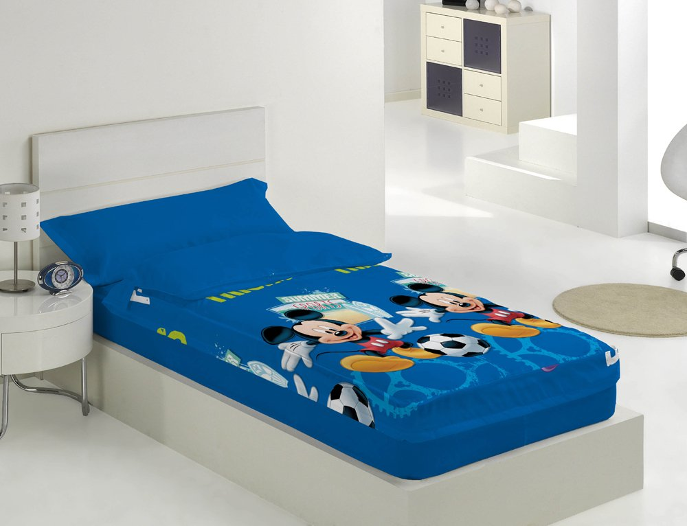Saco nordico con relleno Mickey Summer Sports para cama de 90: Amazon.es: Hogar