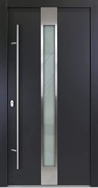 Haustür innen  Alu Haustür 05, anthrazit, nach innen öffnend, DIN links (von ...