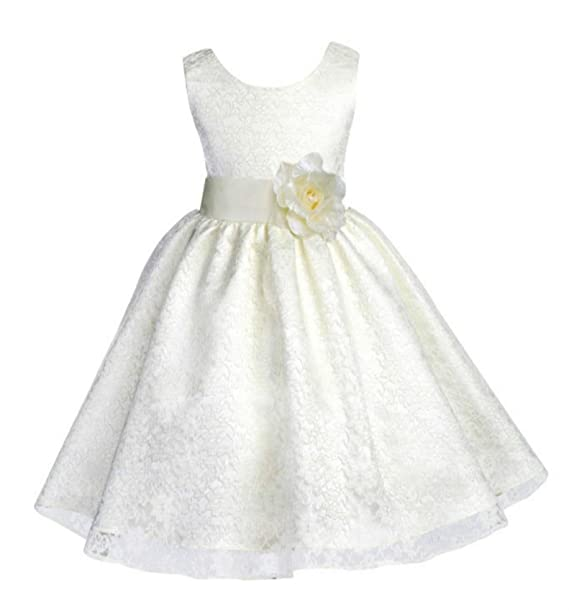 9324a965c Wedding Floral Overlay Lace Flower Girl Dresses Graduation Dresses Daily  Dress 163s 2