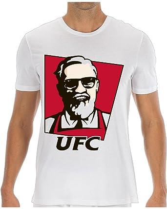 1957d9c08 Conor McGregor UFC KFC Parody Funny Men s T-Shirt XX-Large White ...
