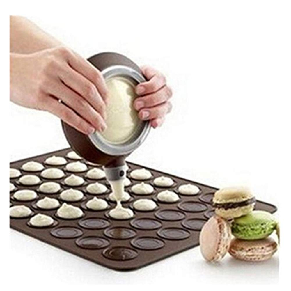 Einfachheit Macaron Macaroon Baking Set 30/48 Capacity Baking Sheet+Decorating Pot+Nozzles (30 Capacity) 1