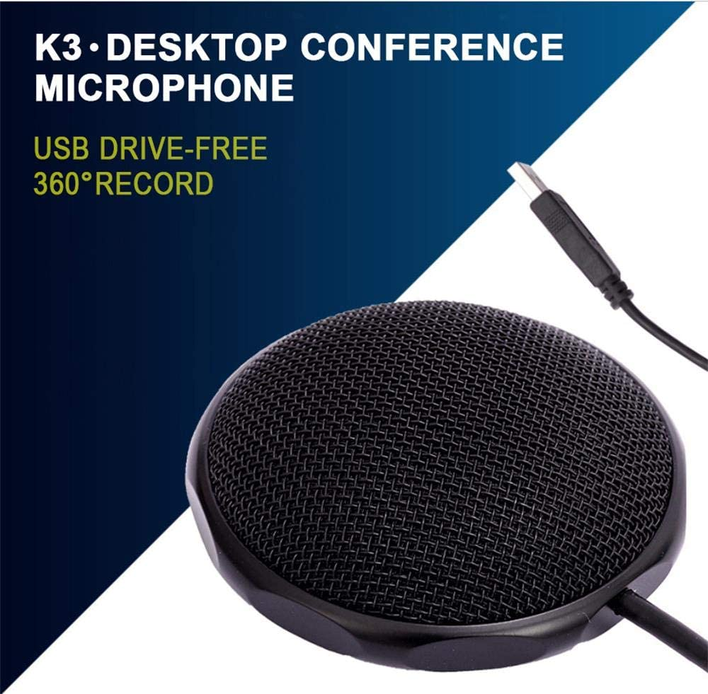 conf/érences pour Enseignants Microphone /à condensateur sans Lecteur USB 0BEST Microphone de conf/érence de Bureau /à 360 /° utilis/é pour Jeux conf/érence en Ligne karaok/é