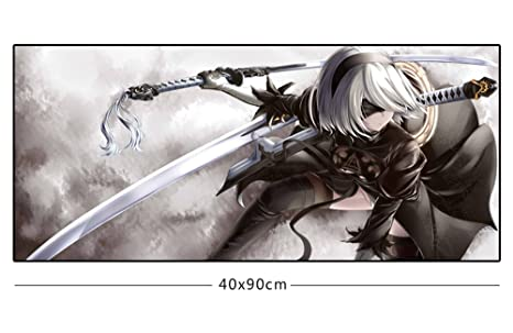 Rain S Pan Anime Nier Automata Cosplay Non Slip Rubber Big Gaming Mouse Pad 15 7 35 4inches 06