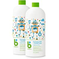 BabyGanics Foaming Dish Soap Refill, Fragrance Free, 32 Fl Oz (Pack of 2), Packaging May Vary