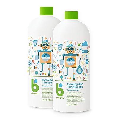 Babyganics Foaming Dish & Bottle Soap, Fragrance-Free