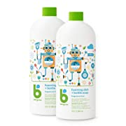 Babyganics Foaming Dish and Bottle Soap Refill, Fragrance Free, 32 Fl Oz (Pack of 2)