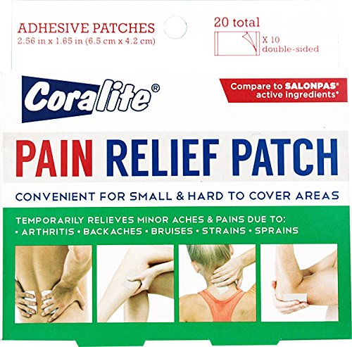(Coralite Small Pain Relief Patch 20 Count, Bulk Case of 24)