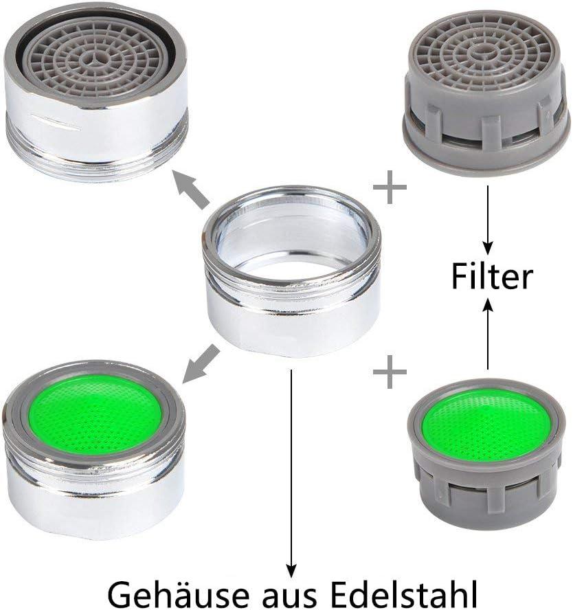 Aireador para grifos 10 unidades, boquilla mezcladora con filtro ABS, incluye llave de boquilla mezcladora, perlatores para grifos Perlator M24