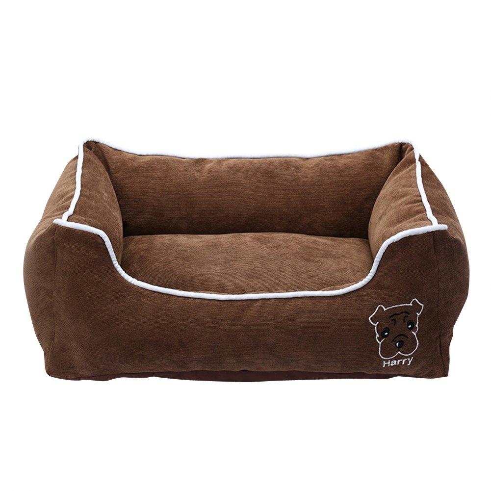 Anyu Cama para Perro Cama de Mascota Suave al Agua Fácil Limpieza Café L: Amazon.es: Productos para mascotas