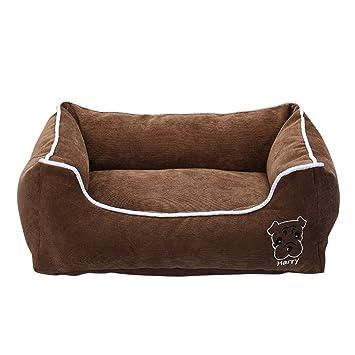 Anyu Cama para Perro Cama de Mascota Suave al Agua Fácil Limpieza Café S: Amazon.es: Productos para mascotas