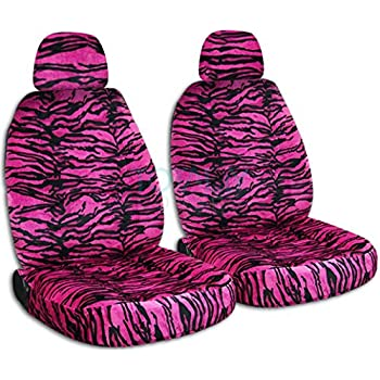 Cars With Those Spiffy Snow Hats As >> Amazon Com Animal Print Car Seat Covers Pink Snow Tiger Semi