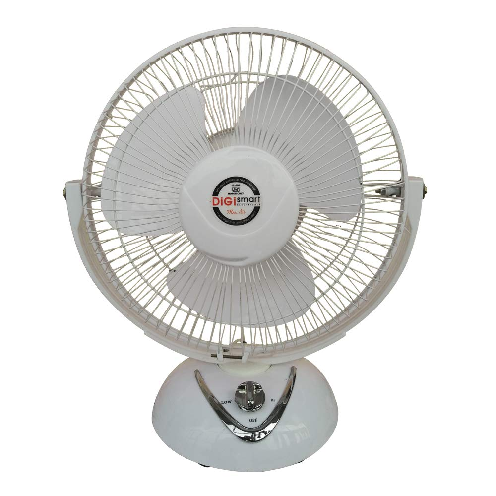 DIGISMART High Speed All Purpose Tini Wall, Metal Table Fan with X-Flow Technology and 3 Speed Blade, 12-Inch, Ivory product image