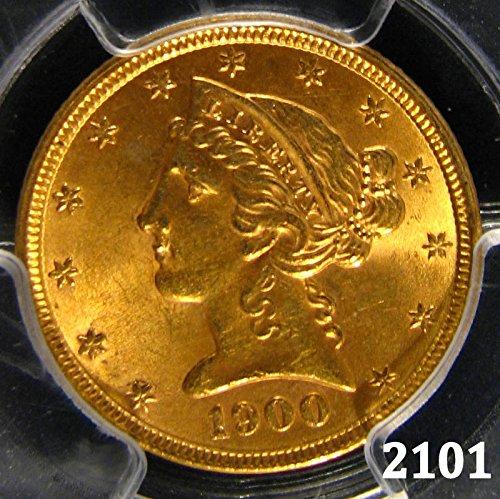 - 1900 Liberty $5 MS-63 PCGS