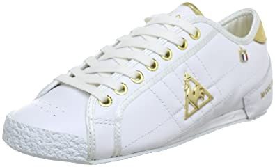 0880980fe239 Le Coq Sportif ESCRIME LA REUNION LOW WOMEN Trainers Womens White ...