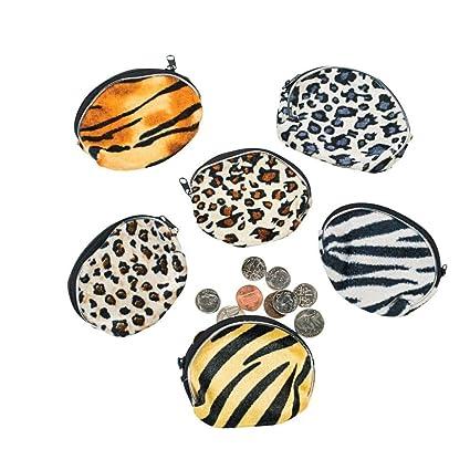 Amazon.com: Fun Express Plush Animal Print Coin Purses (1 ...