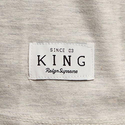 King Apparel Staple 3/4TOP Grau/Navy