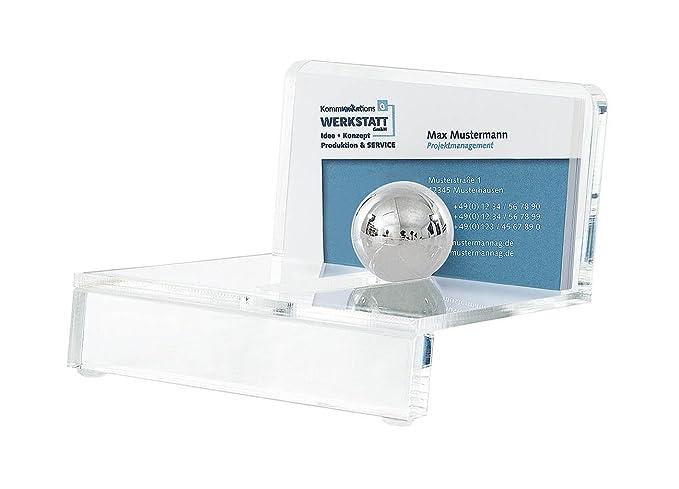 Wedo 601401 Acryl Visitenkartenhalter Glasklar Schwarz Acryl