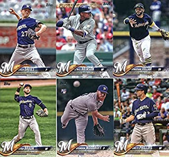 Amazoncom 2018 Topps Milwaukee Brewers Team Set Of 13