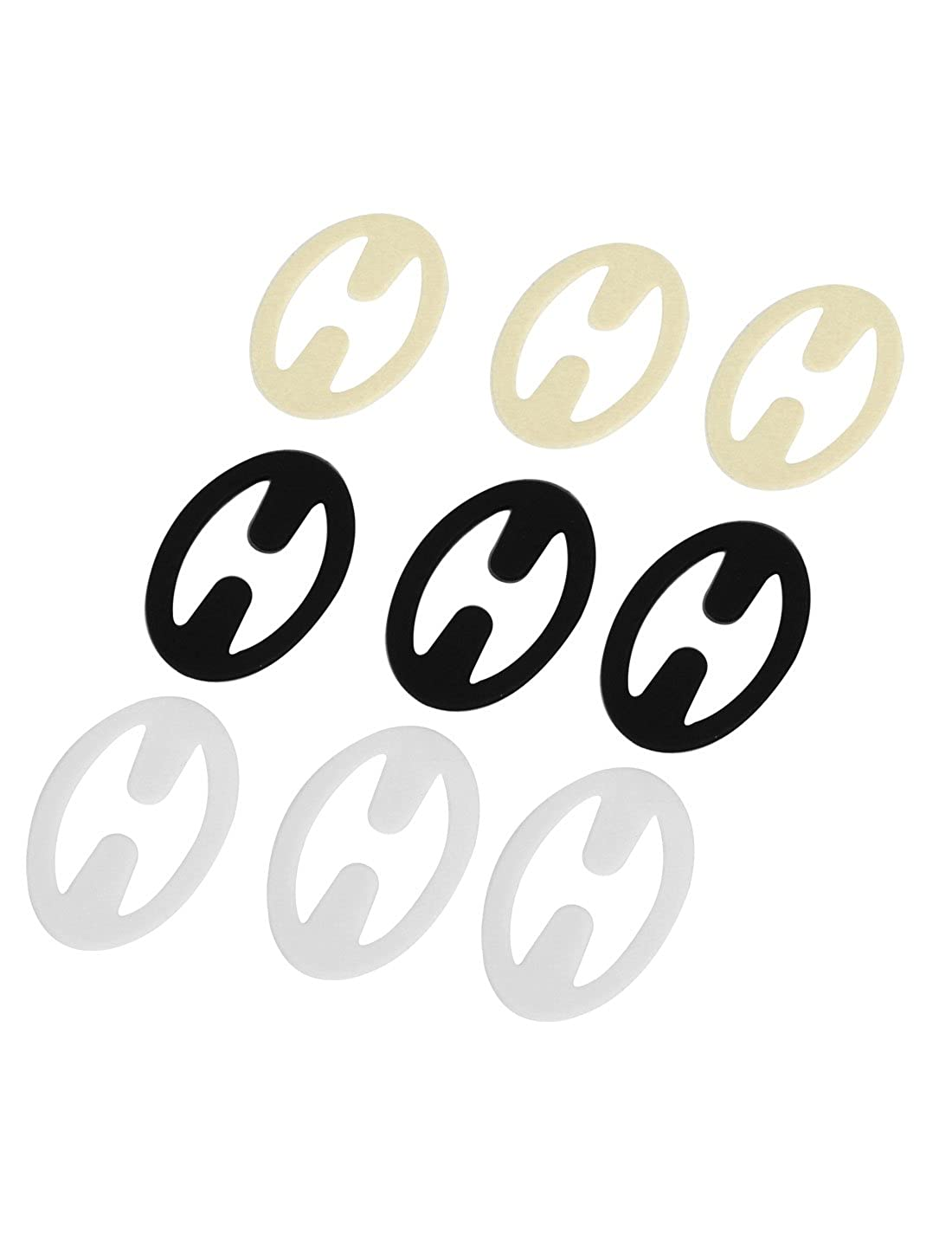 uxcell Round Cleavage Control Clips Hide Adjust Bra Strap Buckle 9PCS a15033100ux0070