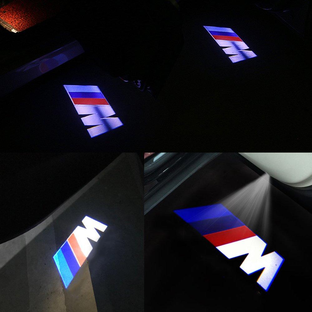 Luces LED para puerta de coche de Lyauta 2 unidades